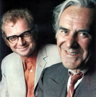 John le Mesurier with Dennis Potter (photo © Radio Times)